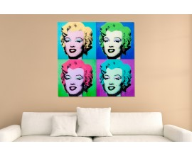 Obraz Pop Art Marilyn 80x80cm, sklo